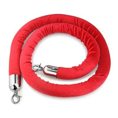 New Star Foodservice Red Velvet Stanchion Rope 54767