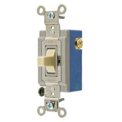 BRYANT 4821I Wall Switch,Ivory,1-Pole Type,1/2 to 2HP G48...