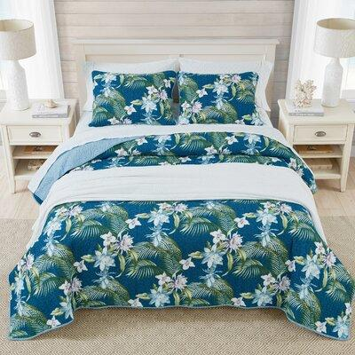 Home Southern Breeze Reversible Quilt Set by Tommy Bahama Bedding TBB1850 Size: King