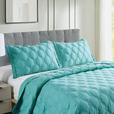 Serenta Bradly 3 Piece Coverlet Set BNFBDS Color: Teal, S...