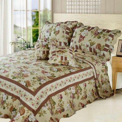DaDa Bedding Dusty Rose Garden Cottage Reversible Bed in ...