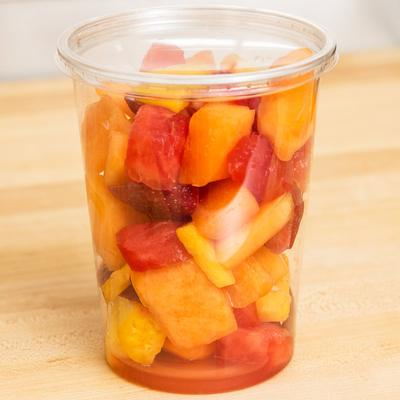 Choice 32 oz. Ultra Clear Recycled PET Plastic Round Deli...