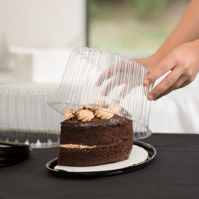 """Polar Pak 07446 8"""" Half Cake Container with Dome Lid - 10..."""
