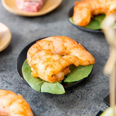"Tablecraft BAMDRBK2 2 1/2"" Black Bamboo Disposable Round ..."