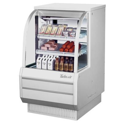 """Turbo Air TCDD-36-2-H 36"""" White Curved Glass Refrigerated..."""