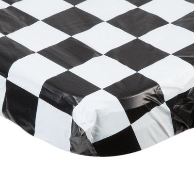 "Creative Converting 37397 Stay Put 30"" x 96"" Black Check ..."