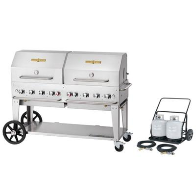 """Crown Verity MCC-60RDP 60"""" Mobile Outdoor Cart Grill with..."""
