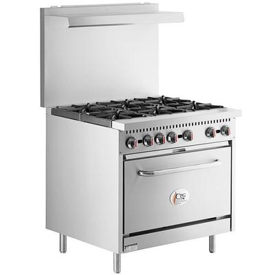 "Cooking Performance Group S36-N Natural Gas 6 Burner 36"" ..."