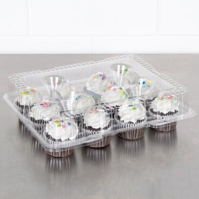 Polar Pak 9513-1 12 Compartment Clear Hinged PET Cupcake ...