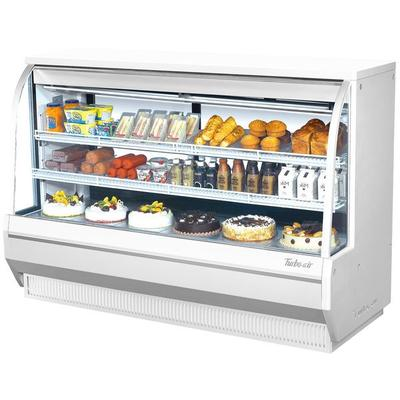 "Turbo Air TCDD-72-2-H 72"" White Curved Glass Refrigerated Deli Case"