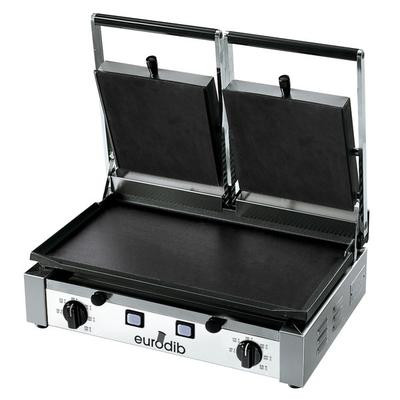 Eurodib PDF3000 Double Panini Grill with Smooth Plates - ...