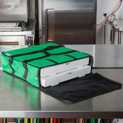Choice Soft-Sided Insulated Pizza Delivery Bag, Green Nyl...