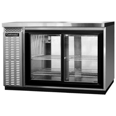 """Continental BBC50S-SS-GD-PT 50"""" Stainless Steel Shallow D..."""