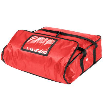 ServIt Insulated Pizza Delivery Bag, Red Soft-Sided Heavy...