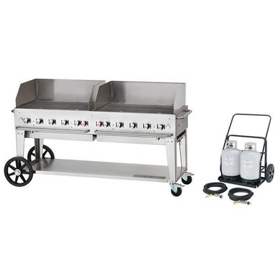 """Crown Verity MCC-72WGP 72"""" Mobile Outdoor Cart Grill with..."""