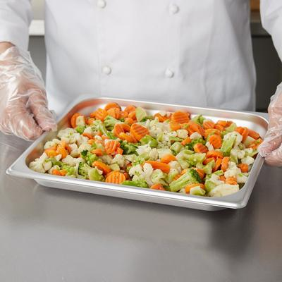 Choice 1/2 Size Standard Weight Stainless Steel Steam Tab...