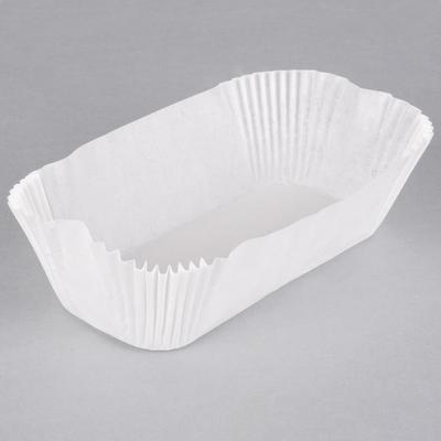 "Lapaco 7 5/16"" White Dry-Waxed Fluted Oblong Loaf Liners ..."