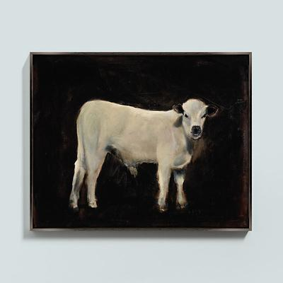 Ballard Designs Mango the Cow Framed Canvas 24