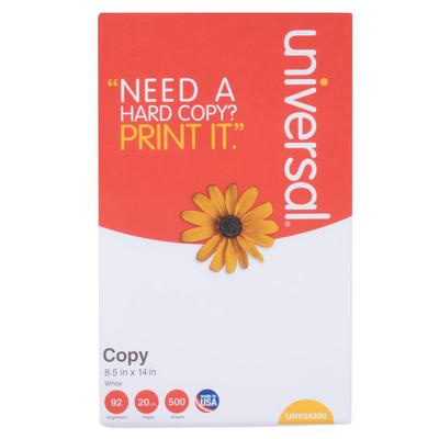 """Universal Office UNV24200 8 1/2"""" x 14"""" White Case of 20# ..."""