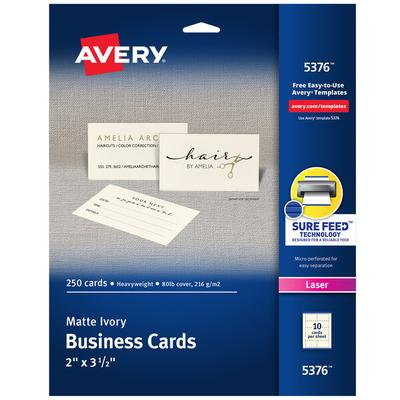 Avery Dennison Laser Ivory Business Cards Box