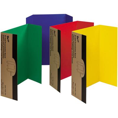 "Pacon 37654 Spotlight 24"" x 36"" Assorted Color Tri-Fold C..."