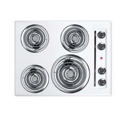 "Summit Summit 24"" Electric Cooktop with 4 Burners WEL03"