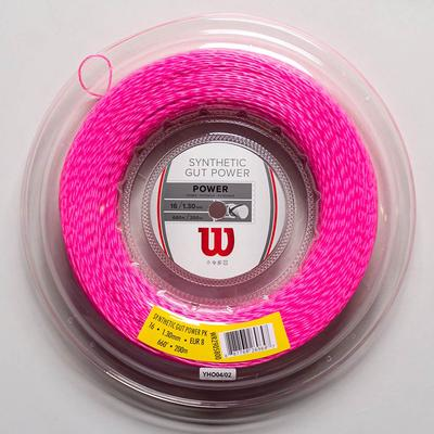 Wilson Synthetic Gut Power 16 660' Tennis String Reels Pink
