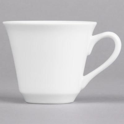 Syracuse China 950002505 Slenda 8 oz. Royal Rideau White ...