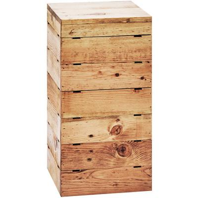 CAL-MIL 3627-99 Madera Reclaimed Wood Square Crate Riser ...
