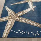Starfish Outdoor Area Rug - Aqua, 2' X3' - Grandin Road