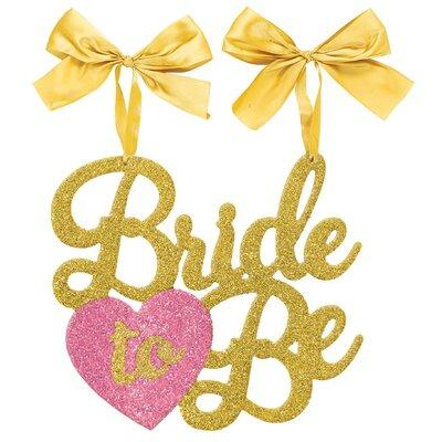 AMSCAN Glitter Bride to Be Chair Sign 241583