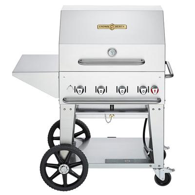 Crown Verity MCB-30-PKG Natural Gas Portable Outdoor BBQ ...