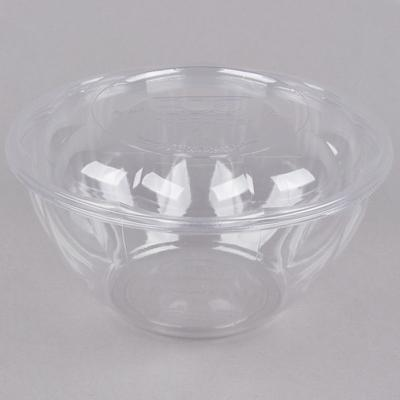 Eco-Products EP-SB32 32 oz. Clear Compostable Plastic Salad Bowl with Lid - 150/Case