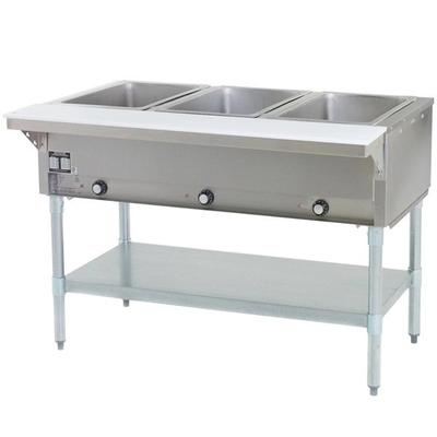 Eagle Group SHT3 Liquid Propane Steam Table Three Pan - A...