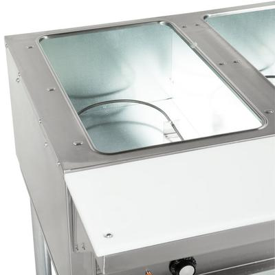 Eagle Group DHT3 Open Well Three Pan Electric Hot Food Ta...