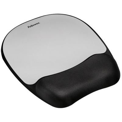 Fellowes 9175801 Black / Silver Mouse Pad with Memory Foa...
