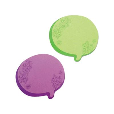 "REDI-TAG 22102 3"" x 2 3/4"" Green / Purple Thought Bubble ..."