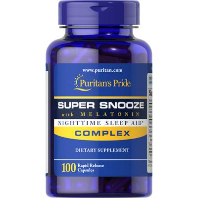 Puritan's Pride Super Snooze with Melatonin-100 Capsules