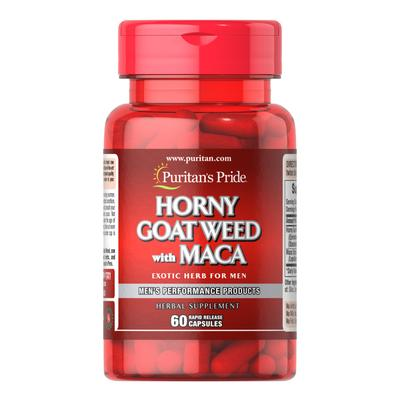 Puritan's Pride Horny Goat Weed with Maca 500 mg / 75 mg-60 Capsules