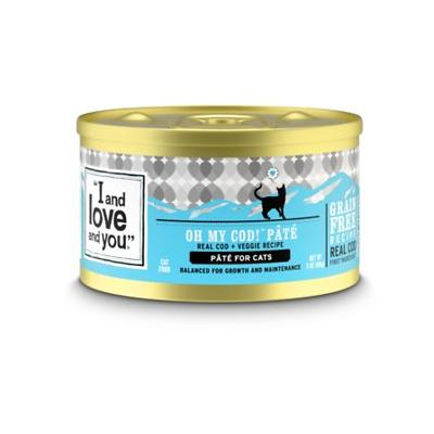 I and Love and You Oh My Cod! Pate Grain-Free Canned Cat Food, 5.5-oz, case of 12