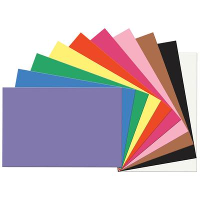 "SunWorks 6523 24"" x 36"" Assorted Color Pack of 58# Constr..."