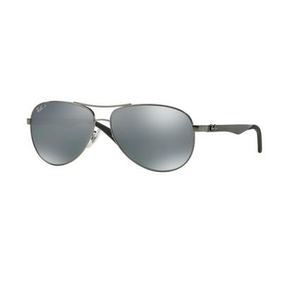 Ray-Ban Sunglasses RB8313 004/K6-61 - Shiny Gunmetal Frame Blue ...