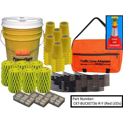36-Position Cone Adapter Kit With 36-Pack Bucket of Magne...