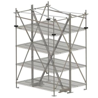 "Metro SA60TTIS Super Erecta Seismic Top-Track 60"" Station..."