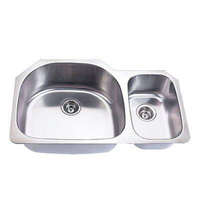 Empire Industries SP-11 Double Bowl Undermount Stainless Steel Kitchen Sink