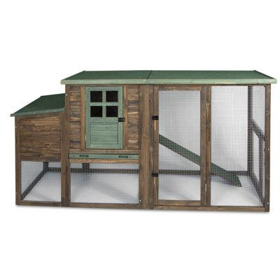 Precision Pet Hen House II Chicken Coop with Roosting Bar...