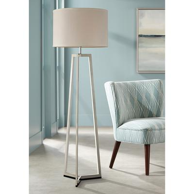 Lite Source Pax Chrome Floor Lamp with LED Night Light