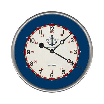 Breakwater Bay Woodsetter East Wind Wall Clock BKWT4769 S...