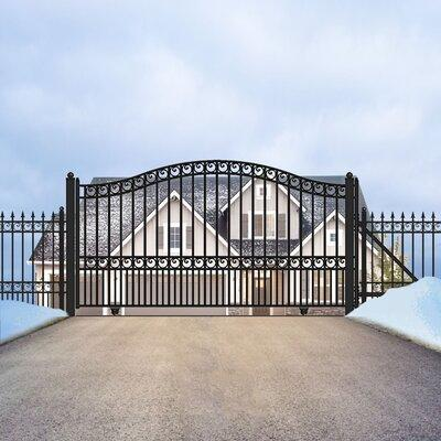 ALEKO Paris Steel Single Sliding Driveway Gate DG1 Size: ...
