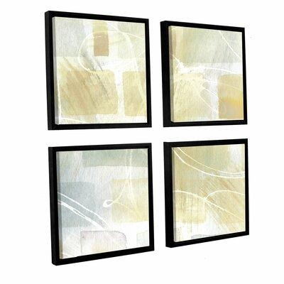 Brayden Studio Caracalla Neutral III 4 Piece Framed Graph...